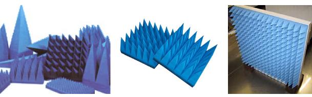 ウレタンプラミッド電波吸収体